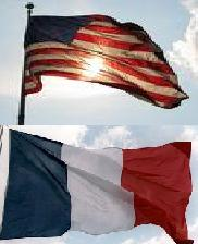 drapeau france et usa